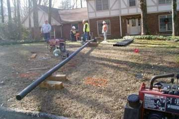 Sewer line break repair in Atlanta GA